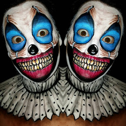 Scary Clown Halloween Makeup