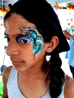 Blue Swirl Girls Face Paint