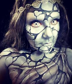 Greek Goddess Stone Halloween Makeup