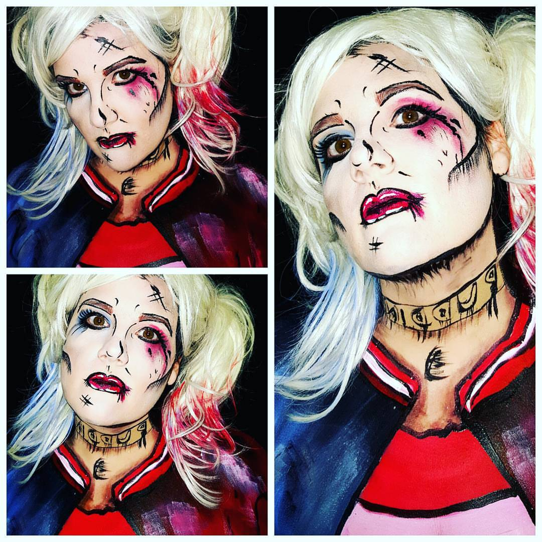 Harley Quinn Halloween Face Paint