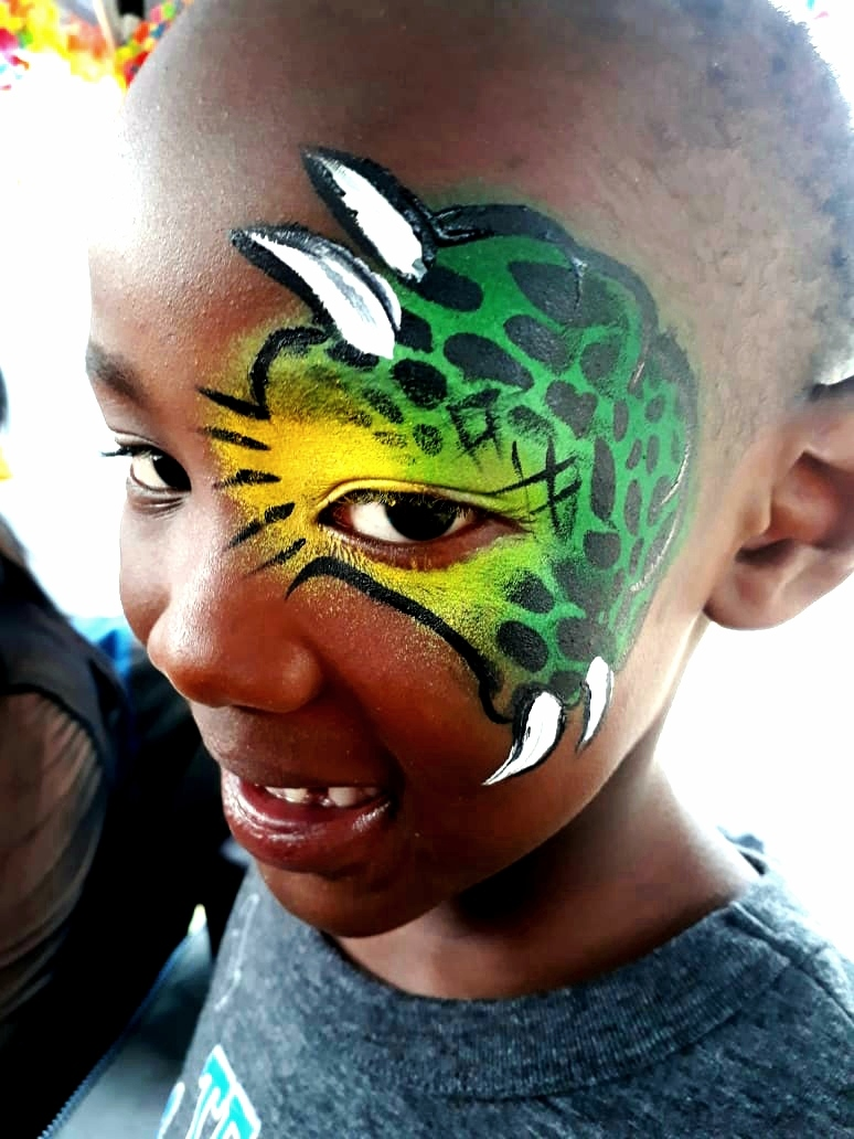 Boys Monster Face Paint Design