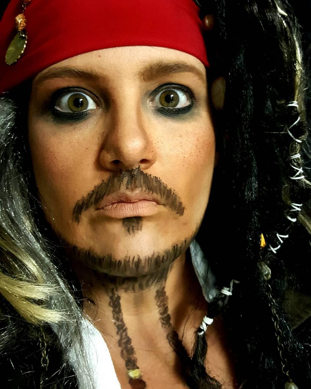Jack Sparrow Halloween Face Paint