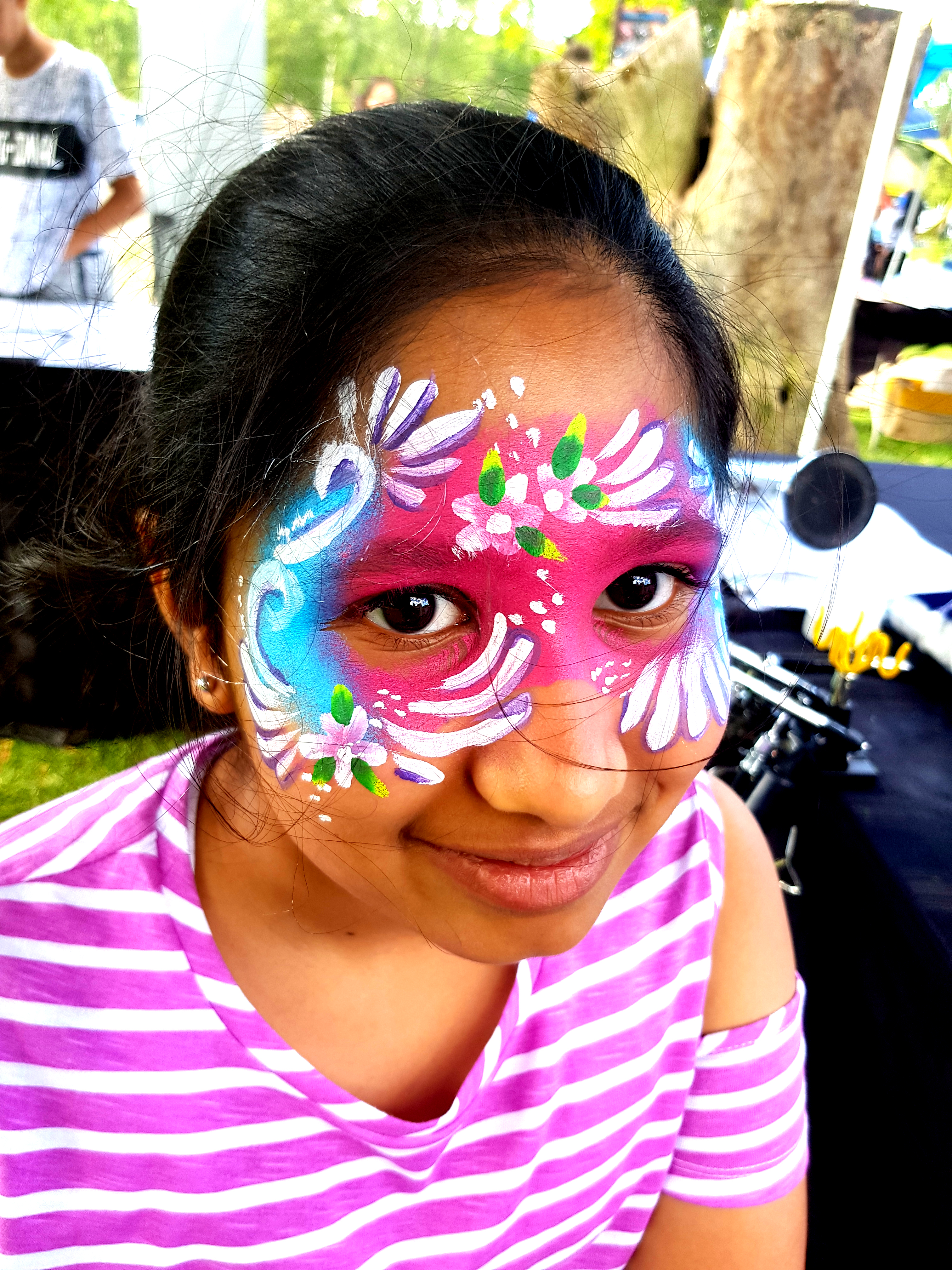 Girls Full Flower Mask Face Paint