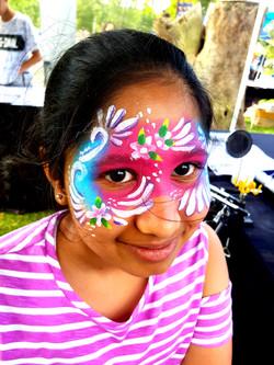 Girls Full Flower Mask Face Paint
