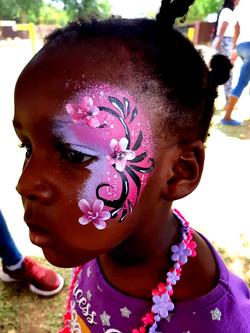 Quick Flower Face Paint Design