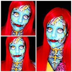 Pop Art Sally Halloween Makeup