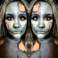 Cracks Halloween Face Paint