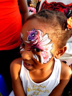 Pink Unicorn Eye Girls Face Paint