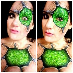 Green Scales Halloween Makeup