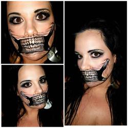 Skull Face Halloween Makeup