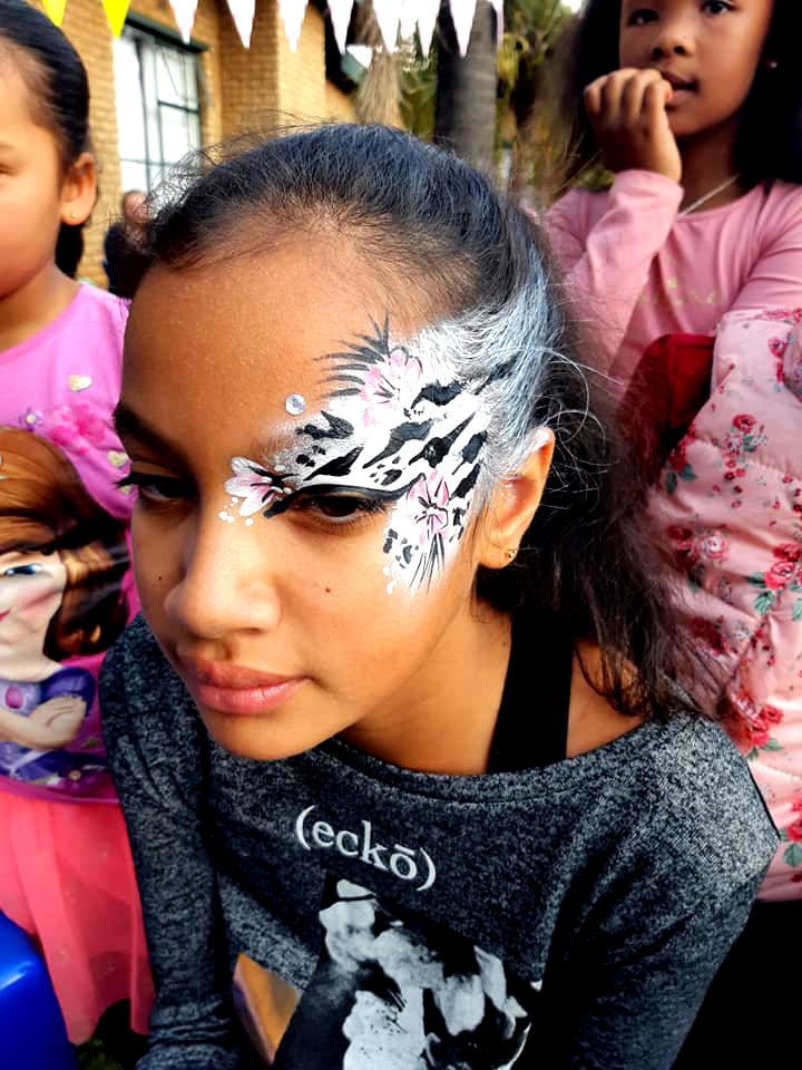 Zebra Eye Design Girls Face Paint