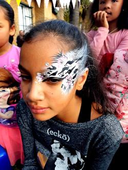 Zebra Eye Design Girls Face Paint