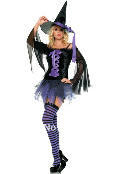 Sexy Purple Witch Costume