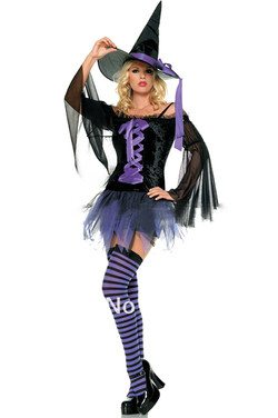 Sexy Purple Witch Costume