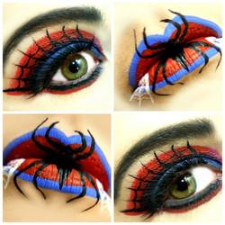 Spider Girl Halloween Makeup