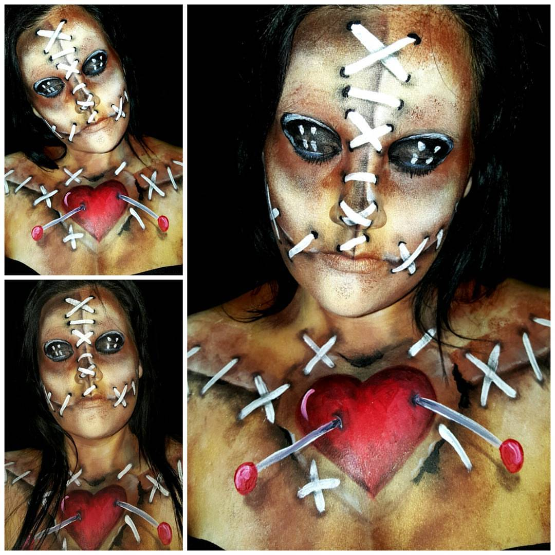 Voodoo Halloween Face Paint