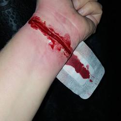 Slit Wrist Halloween Face Paint