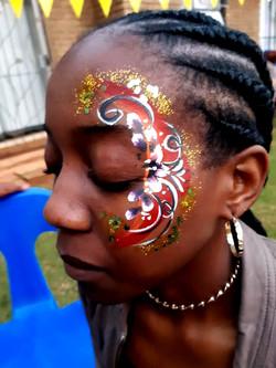 Orang Flower Cheek Girls Face Paint