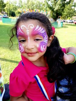 Quick Purple Butterfly Face Paint