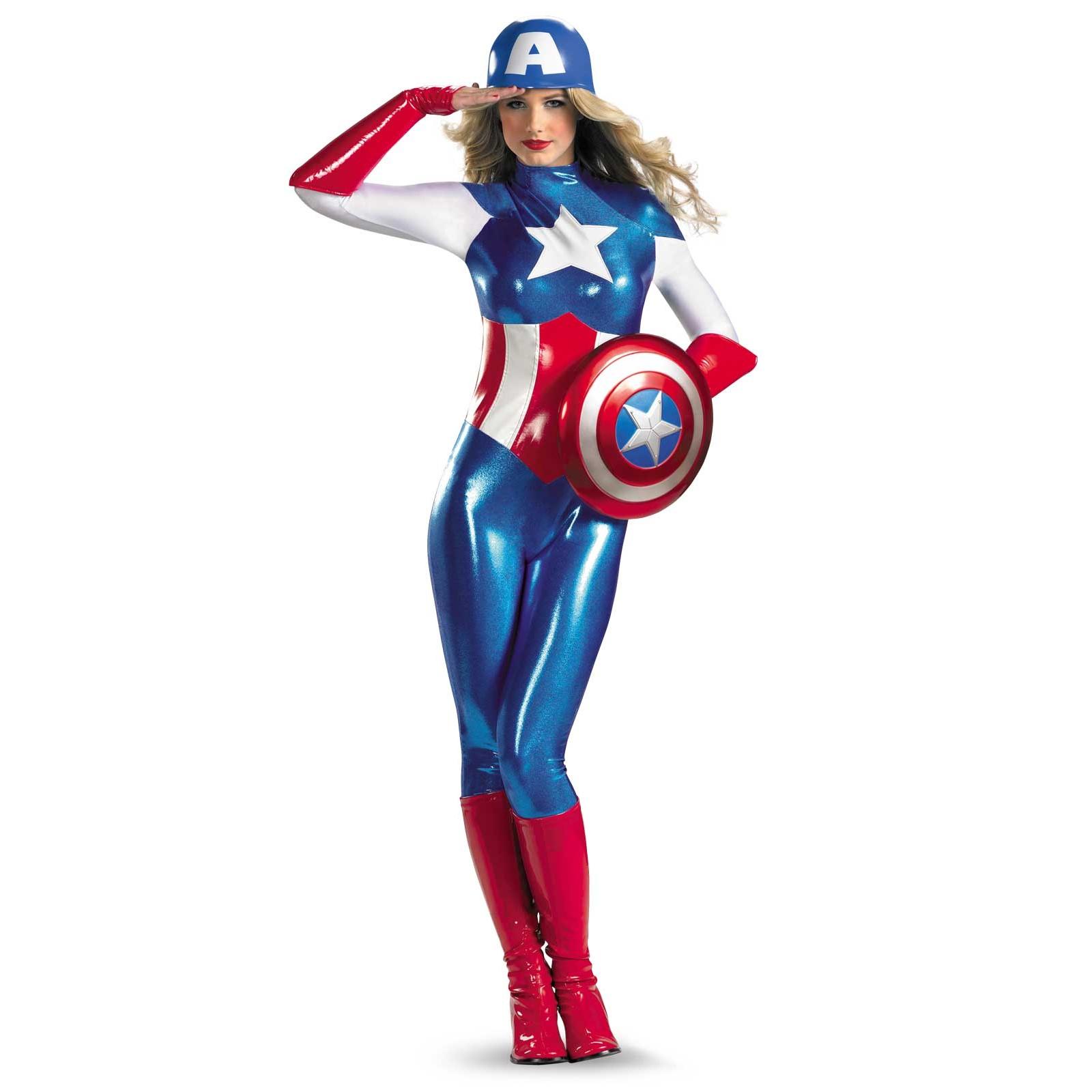 Deluxe Sexy Captain America Costume