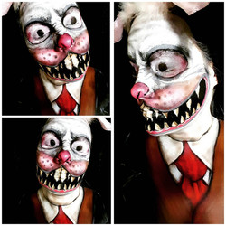 Wicked White Rabbit Halloween Makeup