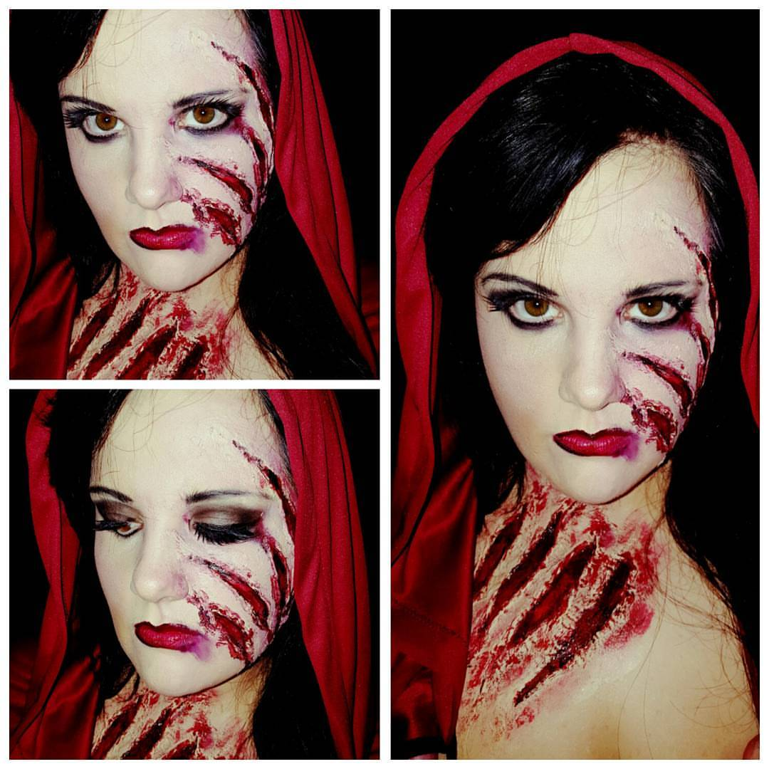 Scary Riding Hood Halloween Makeup