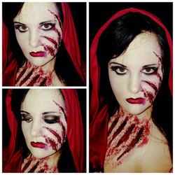 Scary Riding Hood Halloween Makeup