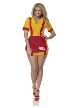 Plus size 2 Broke Girls Costume