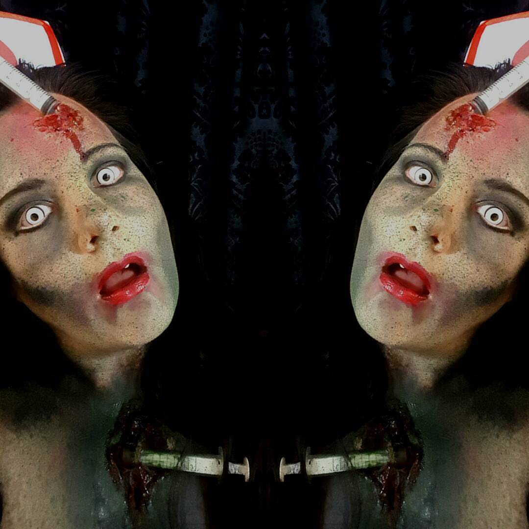 Zombie Nurse Halloween Makeup