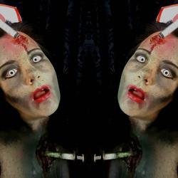 Zombie Nurse Halloween Makeup