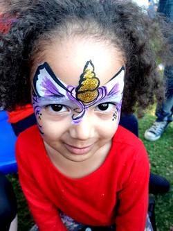 Purple Unicorn Girls Face Paint