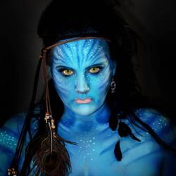 Avatar Halloween Face Paint