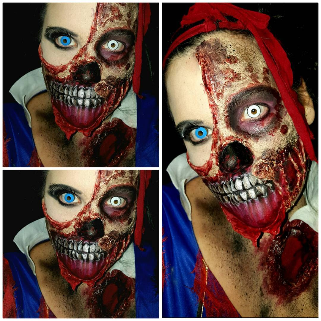 Snow Fright Halloween Makeup