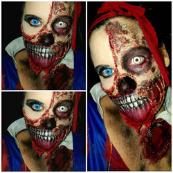 Snow Fright Halloween Makeup