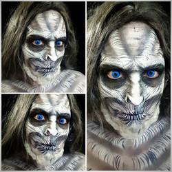 White Walker Halloween Makeup