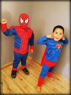 Spiderman and Superman Kids Costume