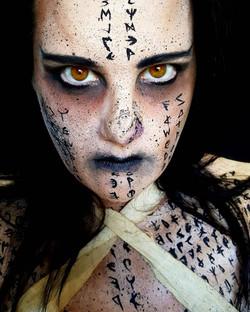 Mummy Halloween Face Paint