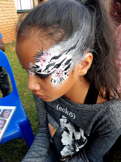 Zebra Girls Face Paint
