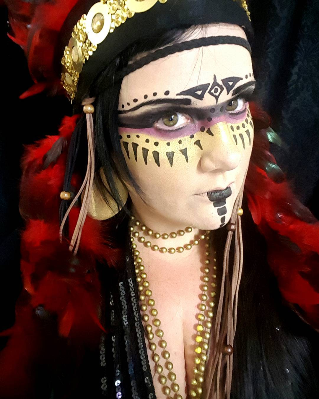 Apache Indian Halloween Makeup