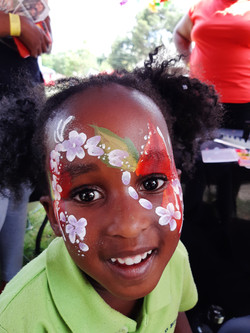 Small and Big Flower Face Paint