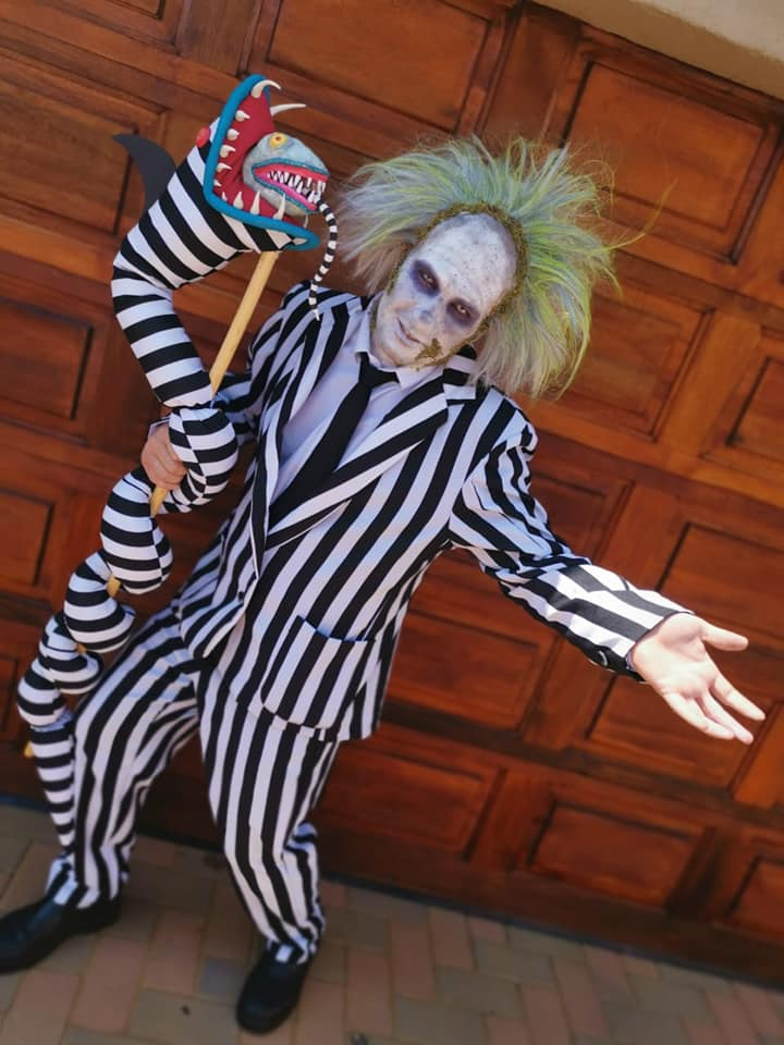 MALE BEETLEJUICE COSPLAY COSTUME