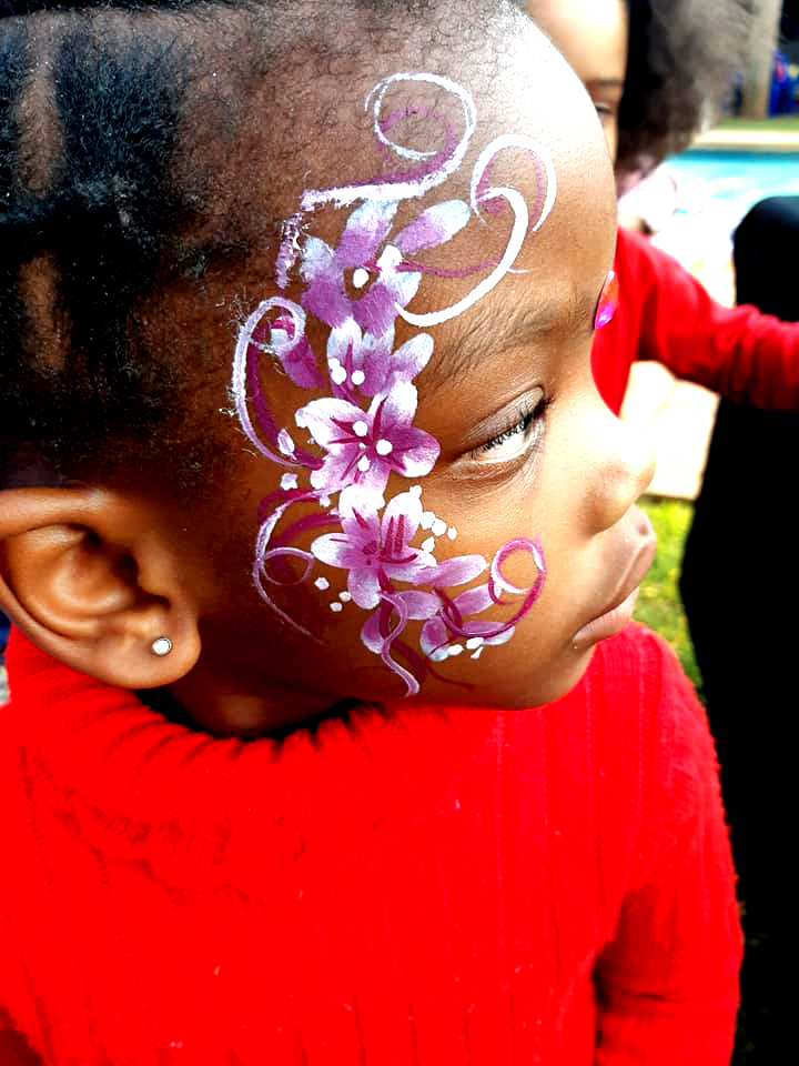 Quick Flower Girls Face Paint