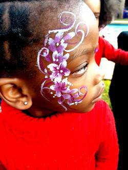 Quick Flower Girls Face Paint