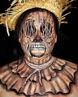Scarecrow Halloween Face Paint