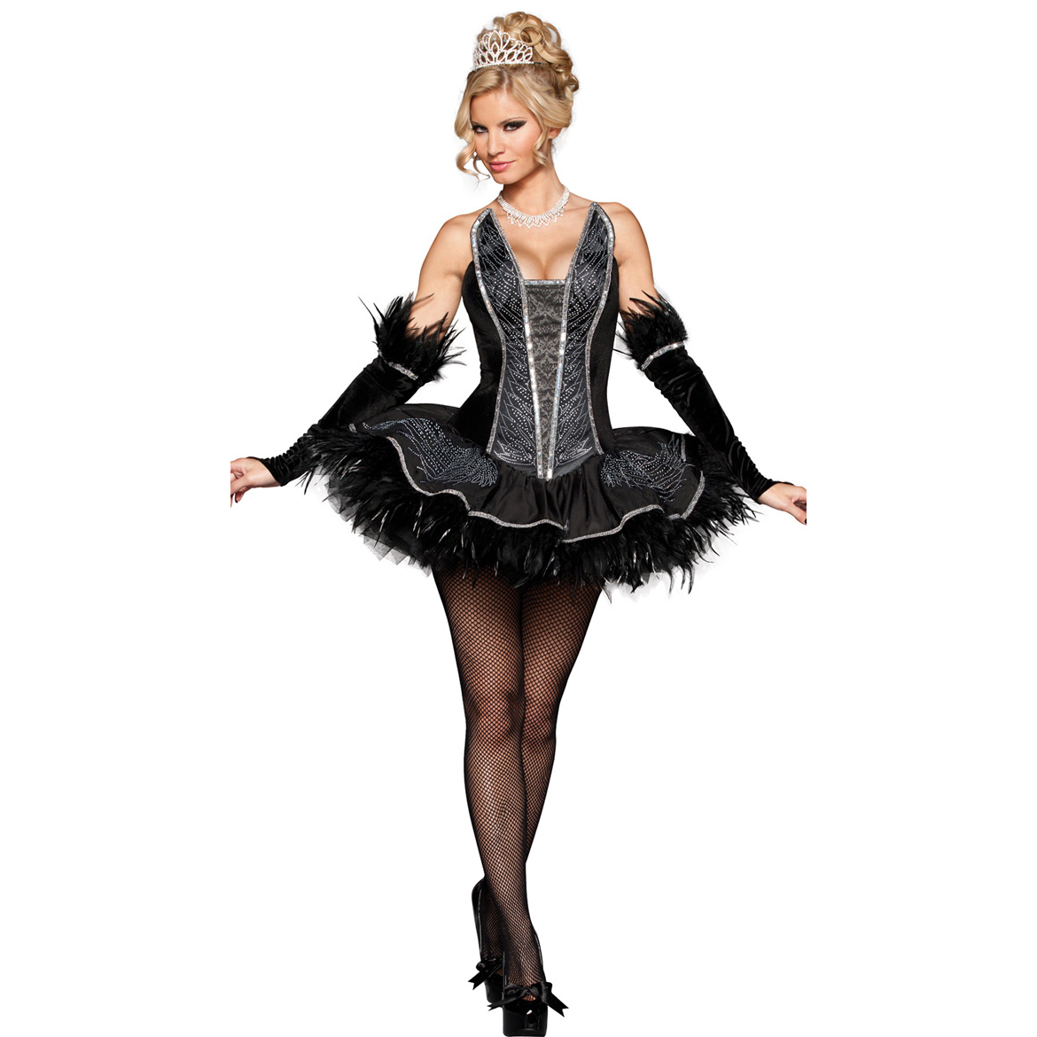 Deluxe Seductive Black Swan Costume