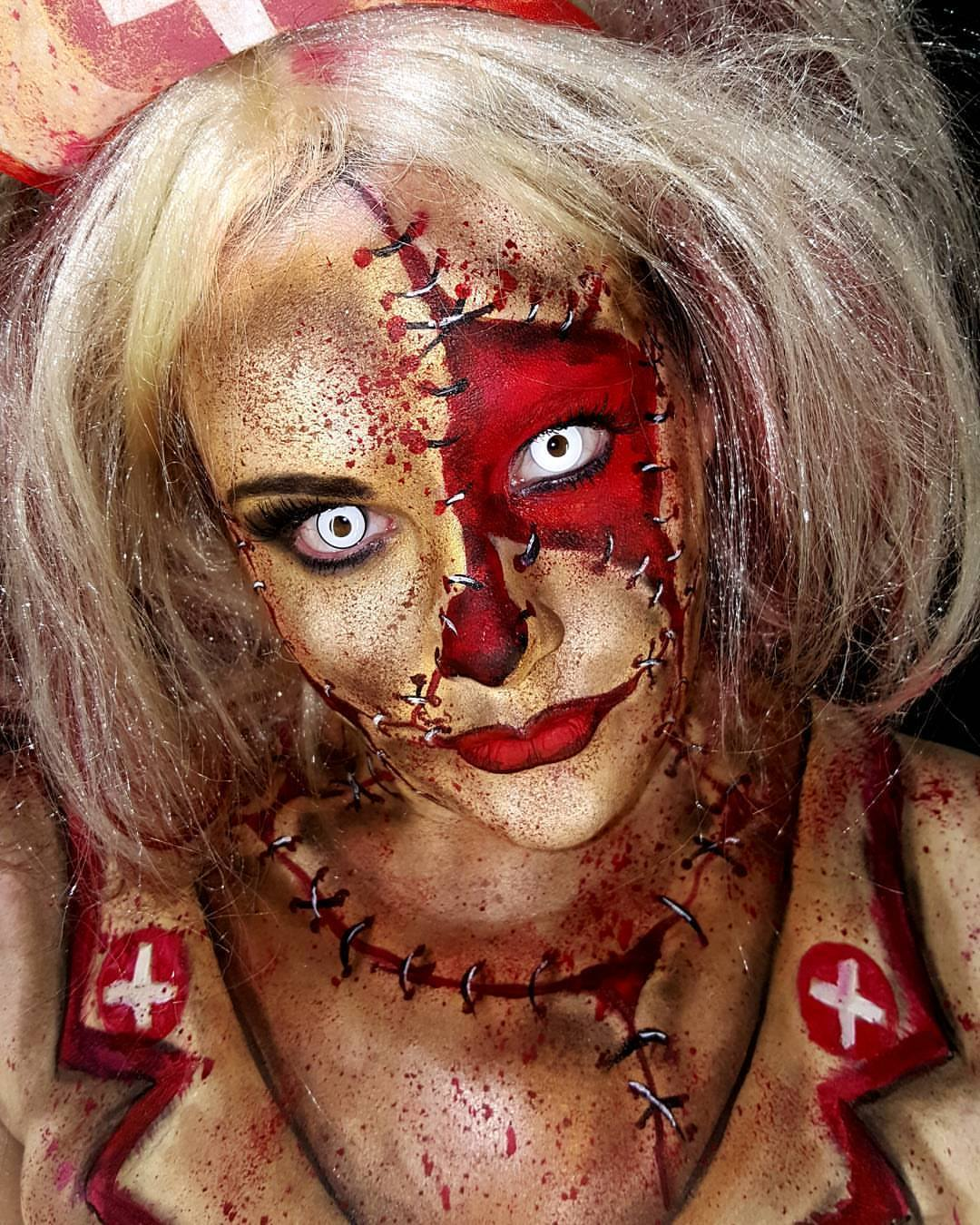 Nurse Halloween Face Paint
