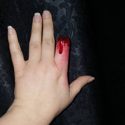 Severed Finger Halloween Face Paint