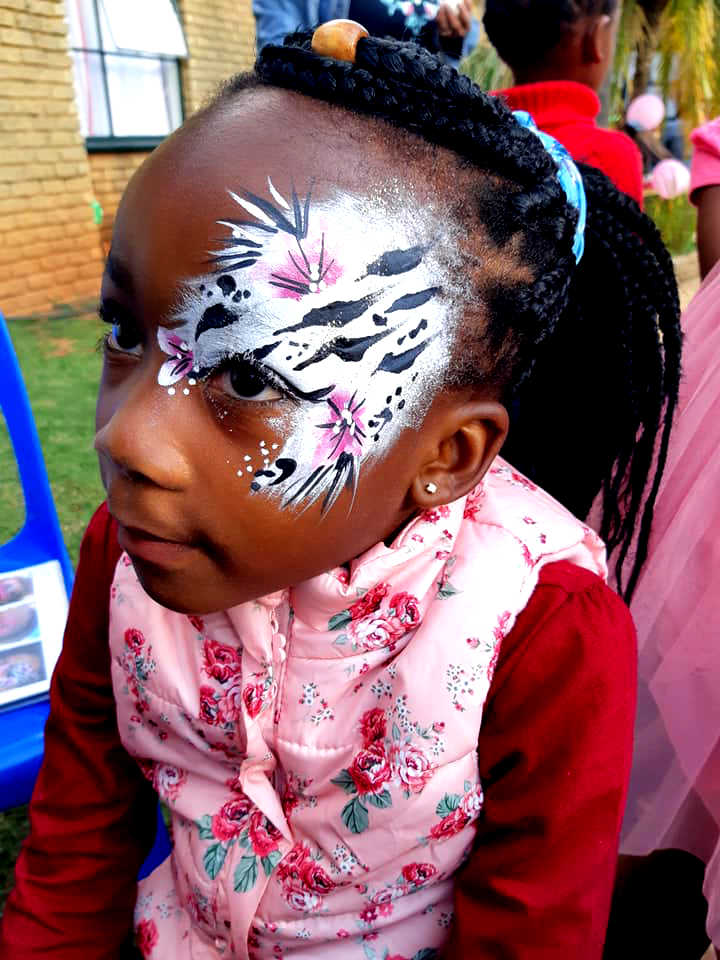 Zebra Small Girls Face Paint