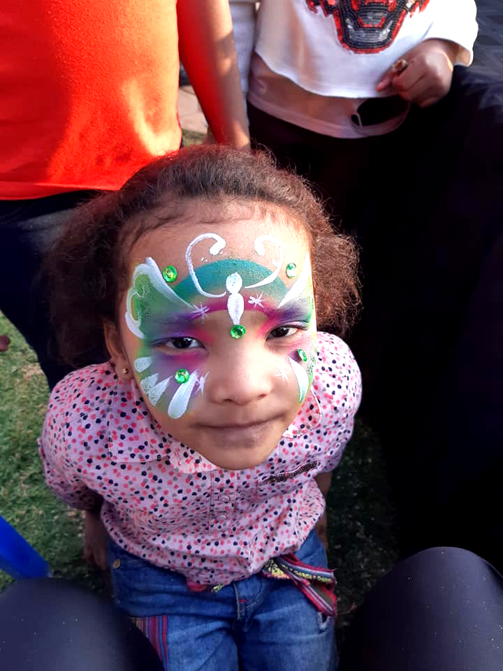 Quick Butterfly Girls Face Paint