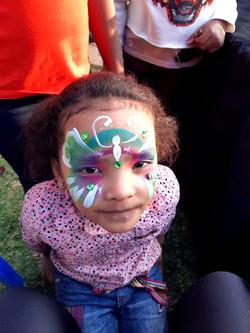 Quick Butterfly Girls Face Paint